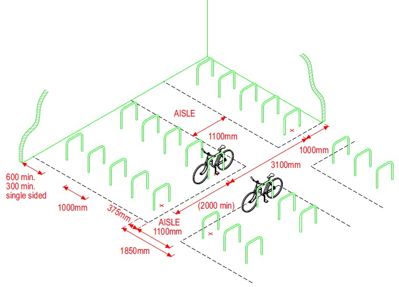 Illustrative cycle parking layout. Transport and Streets Draft SPD   Draft Transport and Streets SPD